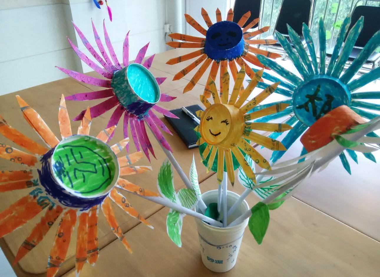 为宝---纸杯太阳花图片